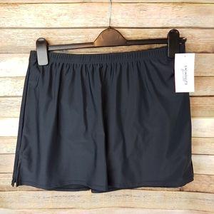 Swimsuits for all black swim skirt 14